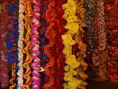 Curtain of Crocheted Coral